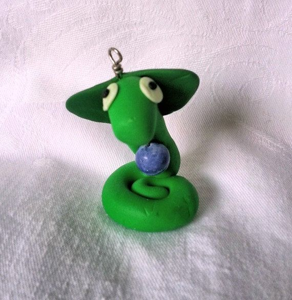 Polymer Clay Cobra Totem  The Wise Guardian by CrystalFoxTreasures, $15.00
