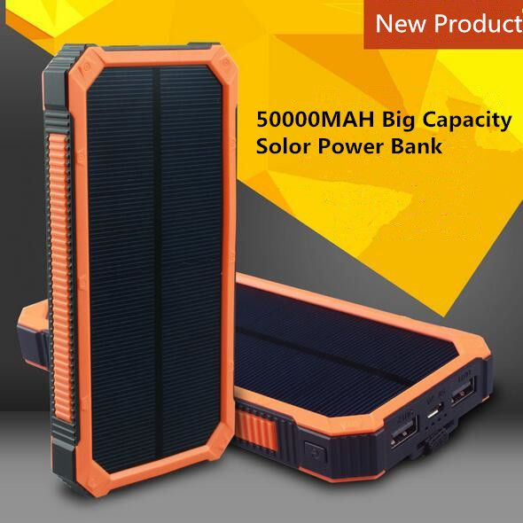 Buy two 10% off Solar power bank large capacity 50000mAh portable usb charger 18650 cell for iPhone Samsung banco //Price: $US $25.00 & FREE Shipping //     #samsung