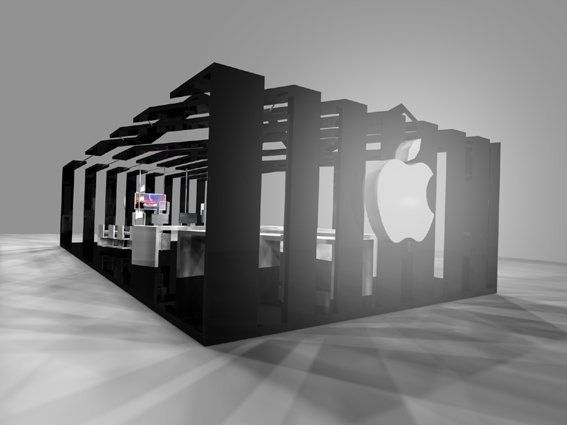 Exhibition Stand Render : Render apple exhibition stand copyright arh design