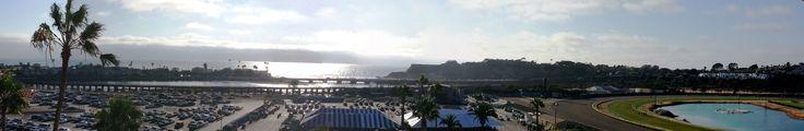 Looking West from the San Diego Fairgrounds/Del Mar Racetrack.  #SanDiego #DelMar #fairgrounds #ocean