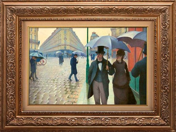"""Paris Street; Rainy Day by Gustave Caillebotte-Peel & Stick Wall Decor - 24""""x32"""""""