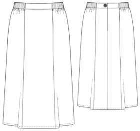 Готовая выкройка юбка для полных