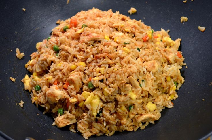 Homemade hibachi fried rice