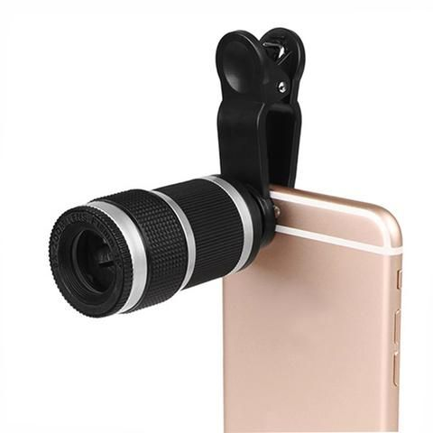 powstro Universal 8X Zoom Telescope Phone Camera Lens with Clip for iPhone Samsung