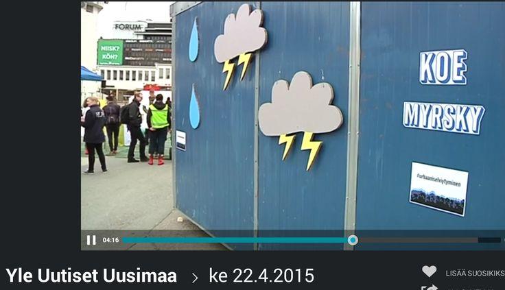 HSY:n Ilmastoinfo järjesti 22.4.2015 tapahtuman, jossa opetettiin varautumaan sään ääri-ilmiöihin. Communiké vastasi tapahtuman medianäkyvyydestä. Yle Uutiset Uusimaan juttu 22.4.