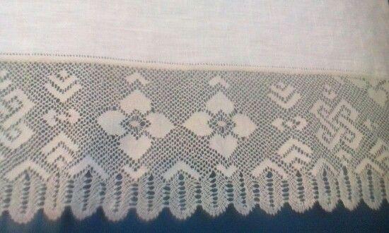 Detall de tovallola de lli. Olga Soler.