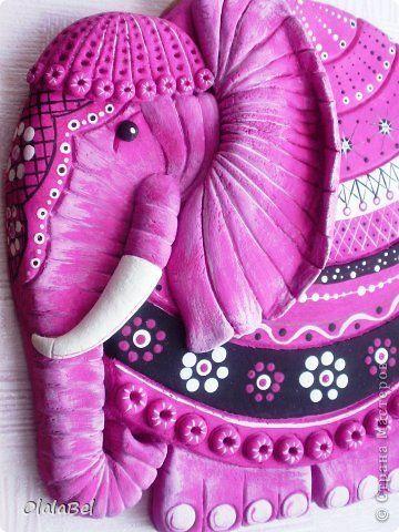 Жил-был на свете розовый слон. Тесто соленое. фото 2