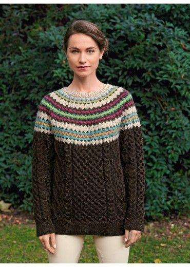 Mag. 177 #18 Jacquard and câble sweater Patterns