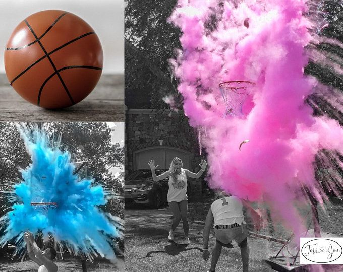 24 Confetti Powder Cannon Gender Reveal Both Smoke Etsy Basketball Gender Reveal Gender Reveal Party Decorations Baby Gender Reveal Party Supplies