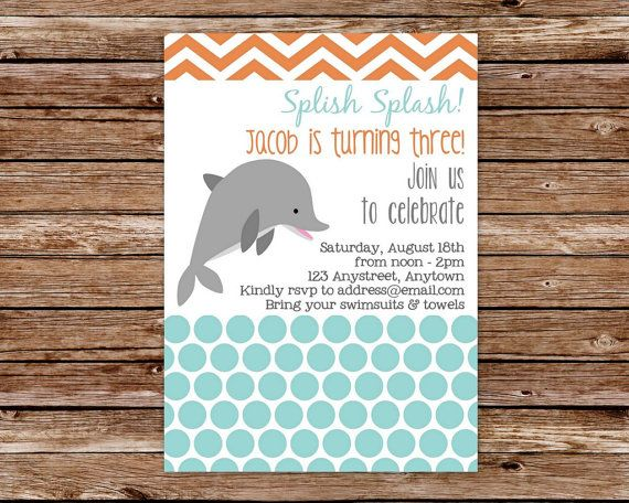 Custom Printable Dolphin Birthday Party by thepaperblossomshop, $12.50