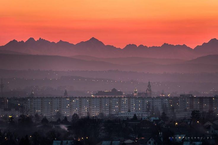 Tatra Mountains seen from Cracow