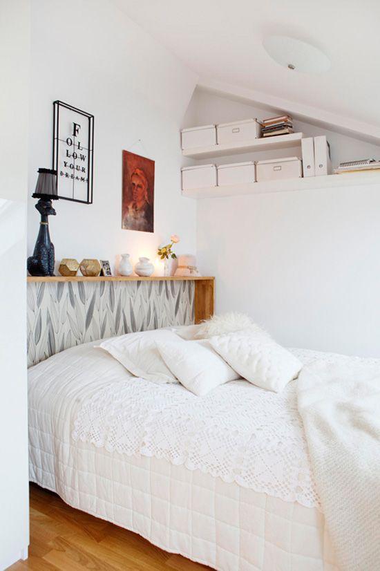 10 Creative Ways to Use Wallpaper - wallpaper headboard