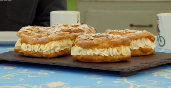 Mary Berry Paris-Brest recipe inspired by a French cycle race on The Great Sport Relief Bake Off