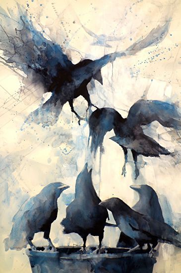 Grace and Gravity by Sarah Yeoman Watercolor ~ 36 x 24