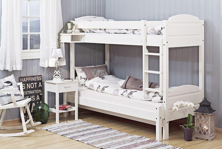 Seng - Stort utvalg til alle soveromBjorli køye/skuvseng75/90 - 150 x 200 cm, hvitmalt