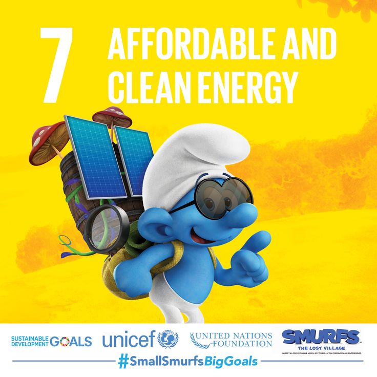 One in five people still lack access to electricity, but Brainy knows that solar power is a simple and sustainable way to generate energy. Find out more about how you can pitch in at SmallSmurfsBigGoals.com.    #SmallSmurfsBigGoals #TeamSmurfs