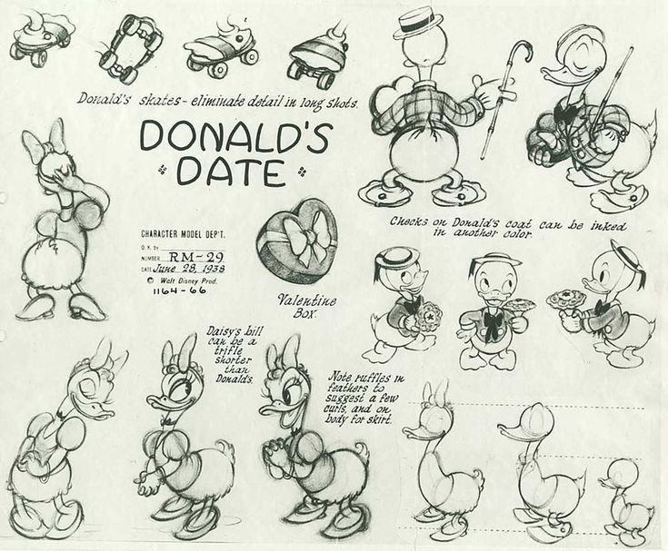 Donald and Daisy Duck ✤ || CHARACTER DESIGN REFERENCES | キャラクターデザイン | çizgi film…