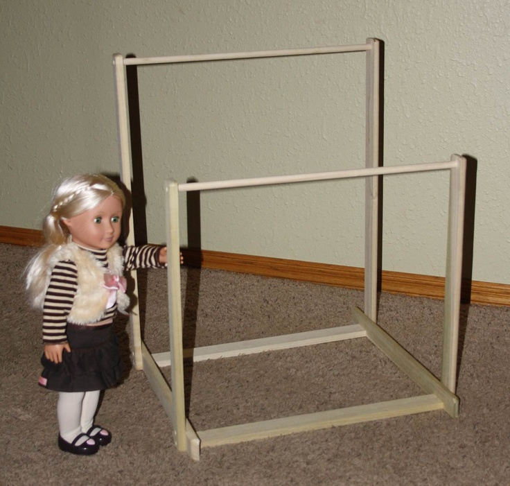American Girl Doll Gymnastics Uneven Bars Do It Yourself DIY Kit. $40.00, via Etsy.