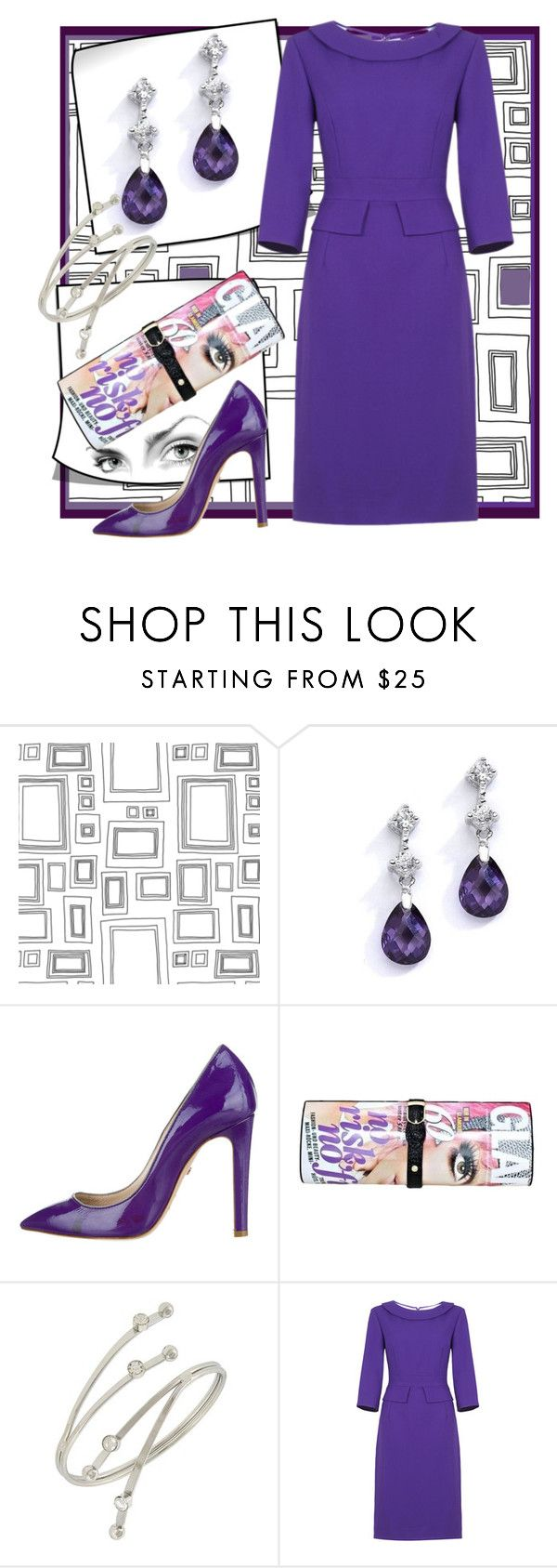 """""""PURPLE!"""" by shoppe23 ❤ liked on Polyvore featuring Graham & Brown, Ruthie Davis, purpledress and Shoppe23"""