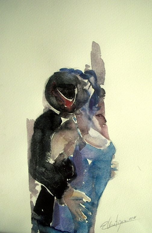 Tango Dancers by Alicia Martínez