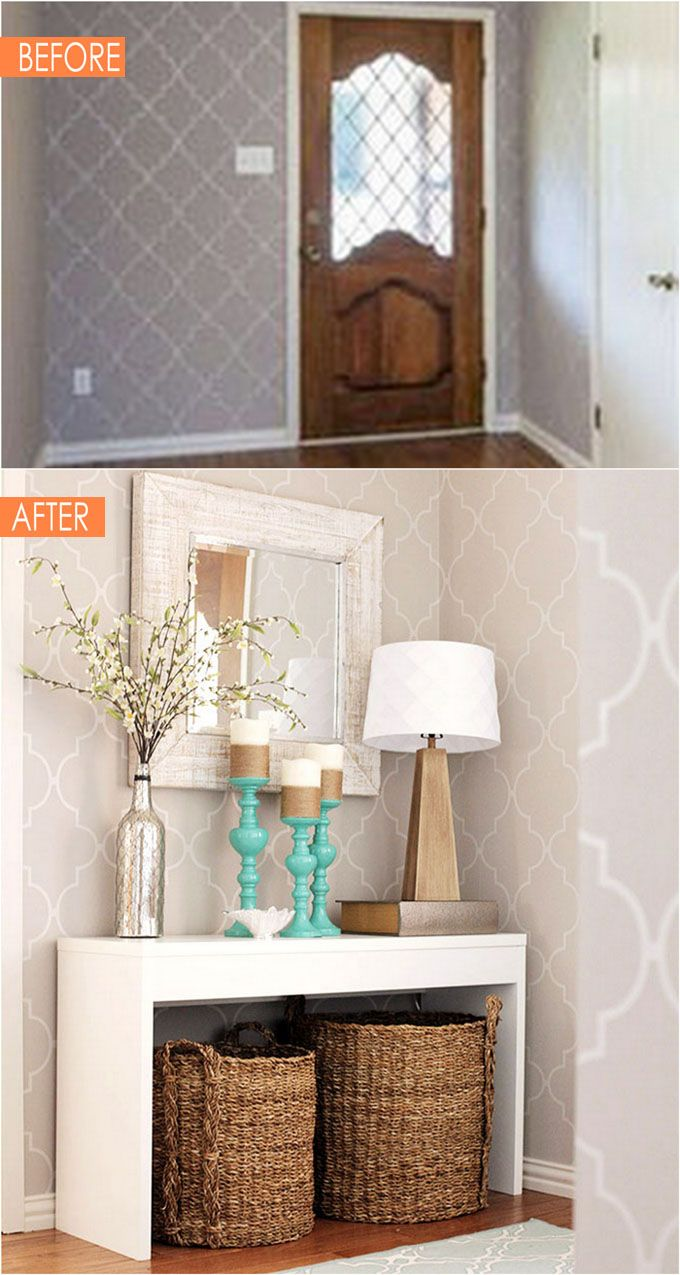21 Amazing Before After Entryway Makeovers - A Piece Of Rainbow