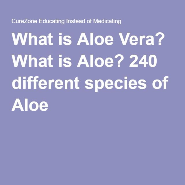 What is Aloe Vera? What is Aloe? 240 different species of Aloe