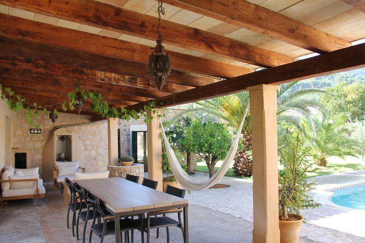 Porch of Villa Emilia, Sóller, Mallorca. www.sollersecrets.com