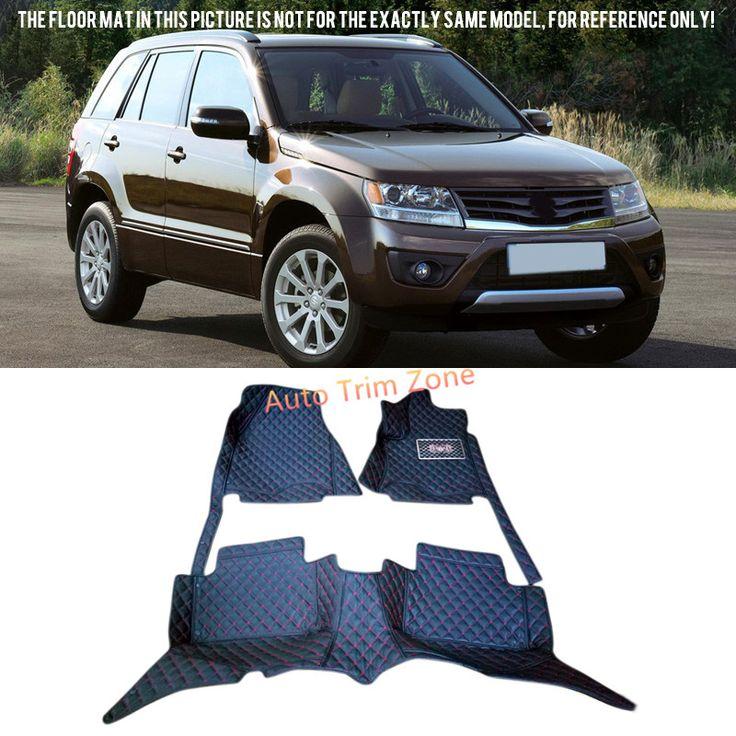 Interior Black Leather Floor Mats & Carpets For Suzuki Grand Vitara 2005-2014