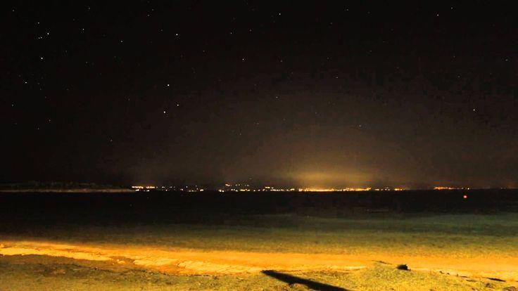 Night at Chalkidiki Spalafronisia Σπαλαθρονησια time lapse 2014 Sithonia