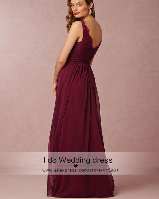Vintage Burgundy Bridesmaid Dresses Tulle Maroon Long Lace Maid of Honor Dress For Weddings Floor Length Diamond Sash D30