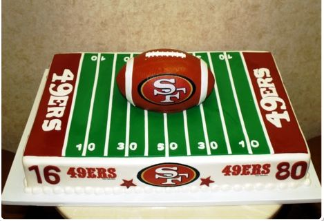 49ers groom cake: Football Cakes, Cakes Ideas, 49Ers Cakes, Specialty Cakes, Sheet Cakes, Football Grooms Cakes, Cakes Design, Groom Cake, Birthday Cakes