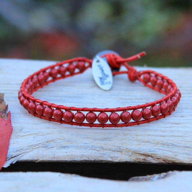 Christmas present ideas for girlfriend, Beaded Wrap Bracelet, Swarovski Bracelet, Bead Bracelet Women, Leather And Pearl Bracelet by ArmellaMeaJewelry on Etsy