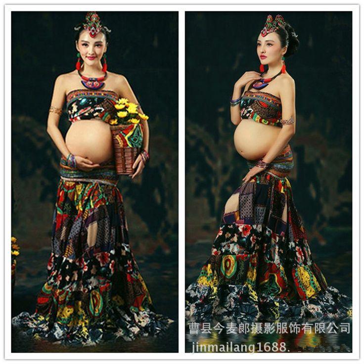 Vestidos de Las Mujeres calientes accesorios de fotografía fotografía de la maternidad vestido de ropa de maternidad de maternidad ropa larga vestidos embarazo en   de   en AliExpress.com | Alibaba Group