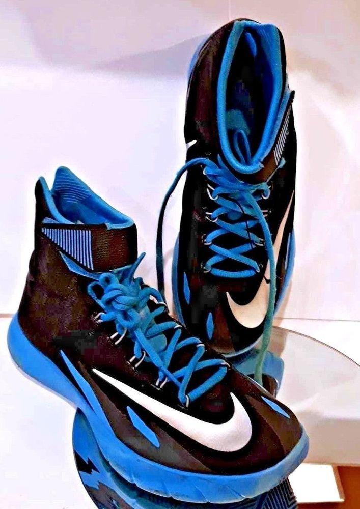 f61eaec5bf61 NIKE Men s Black Flywire Zoom HyperRev Basketball Shoes Athletic Sneakers  High 9  Nike  BasketballShoes