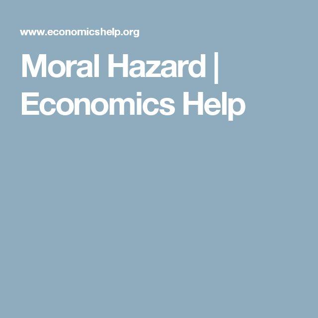 Moral Hazard | Economics Help