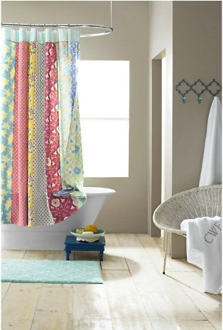 Quilted Shower Curtain Http://www.garnethill.com/emily Reversible