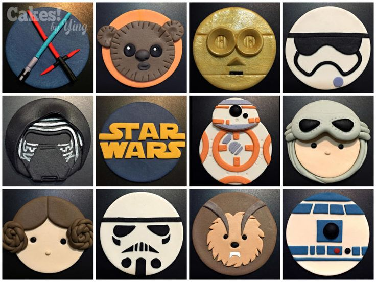 I had such a blast making these!! Been busy at work, and haven't been able to take on many orders, but this was one that was booked way in November, and 'Star Wars' themed… so how could i refuse ;D The brief was for little Zach who just turned 8,...