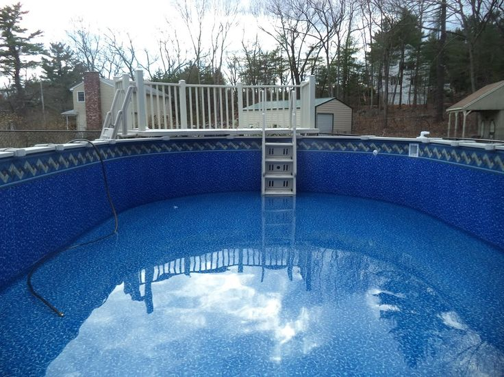 Ventura beaded liner installed in a 15 39 x25 39 sharkline pool for Pool liner installation