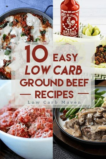 10 delicious low carb ground beef recipes the whole family will love! These beef recipes are perfect for easy weeknight keto dinners!