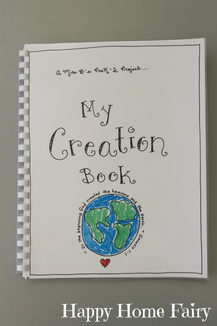 Creation Book Free Printable The Story Book Covers