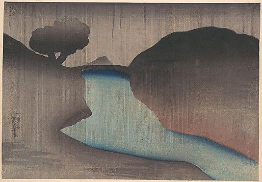 Ochanomizu in the Rain  Utagawa Kuniyoshi  (Japanese, 1797–1861)