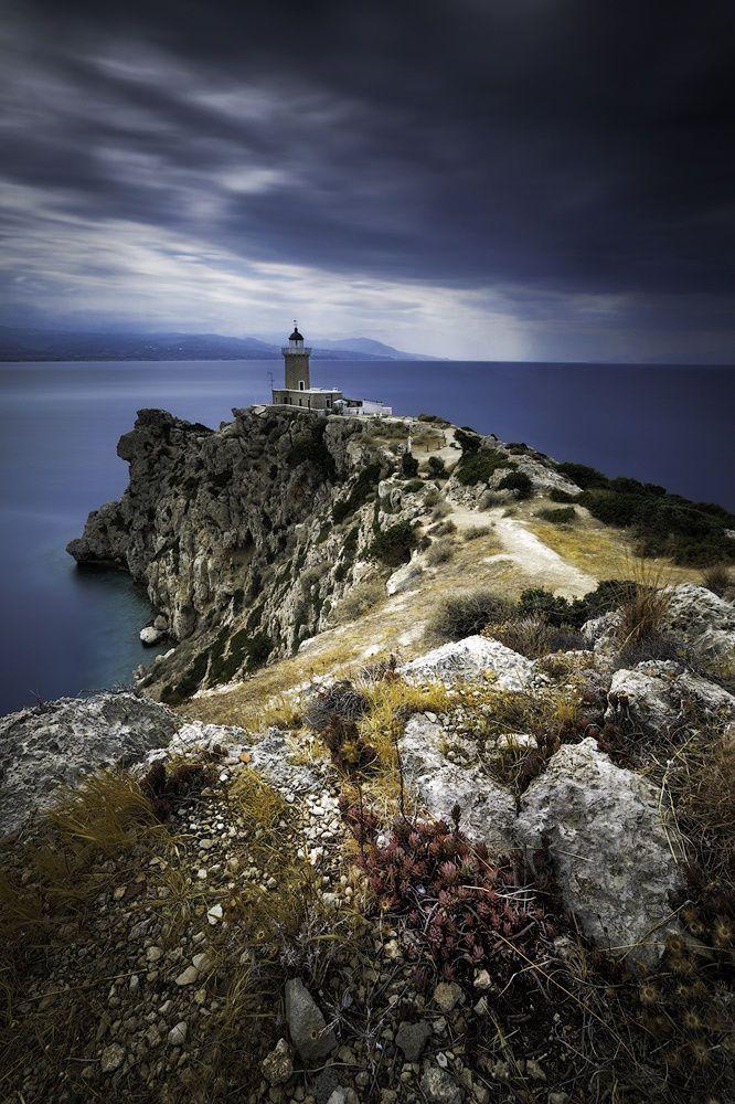 Melagavi lighthouse, Loutraki, Greece