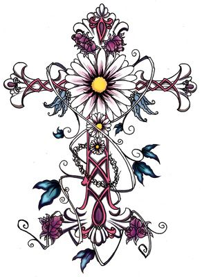 celtic tattoos for women | Feminine Cross Tattoo Design for Women Flower | Just Free Image ...