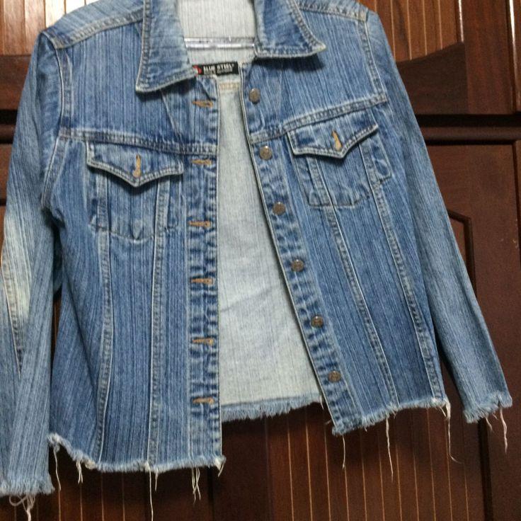 jaqueta jeans despojada - casaquinhos sem marca