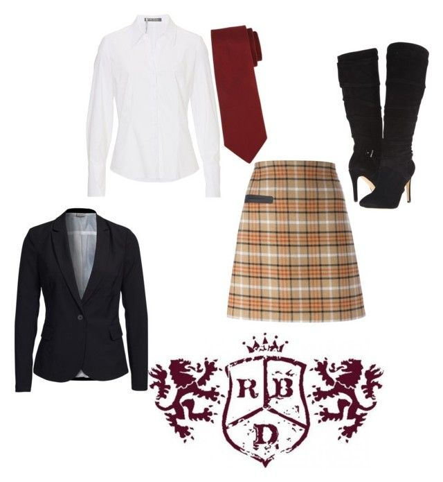 """Rebelde uniform"" by nereidanelyc on Polyvore featuring Tory Burch, Betty Barclay, GUESS, Vero Moda and Lanvin"