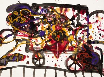 John Olsen - The Gypsy Cart