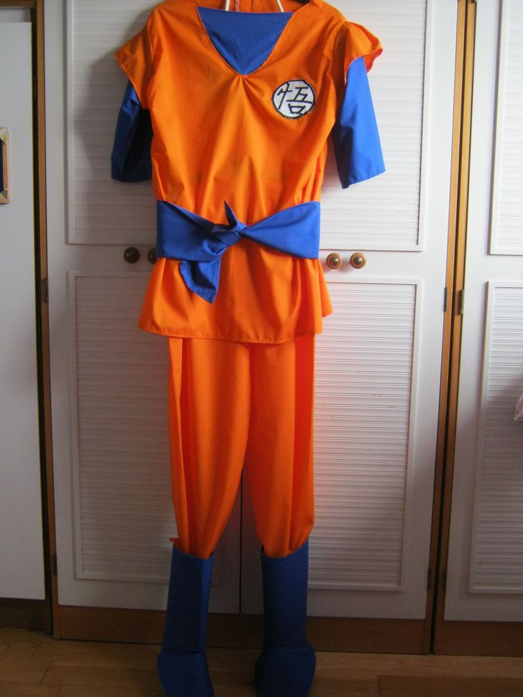 Dragon Ball Z Goku Costume  •  Free tutorial with pictures on how to make an chracter costume in 6 steps