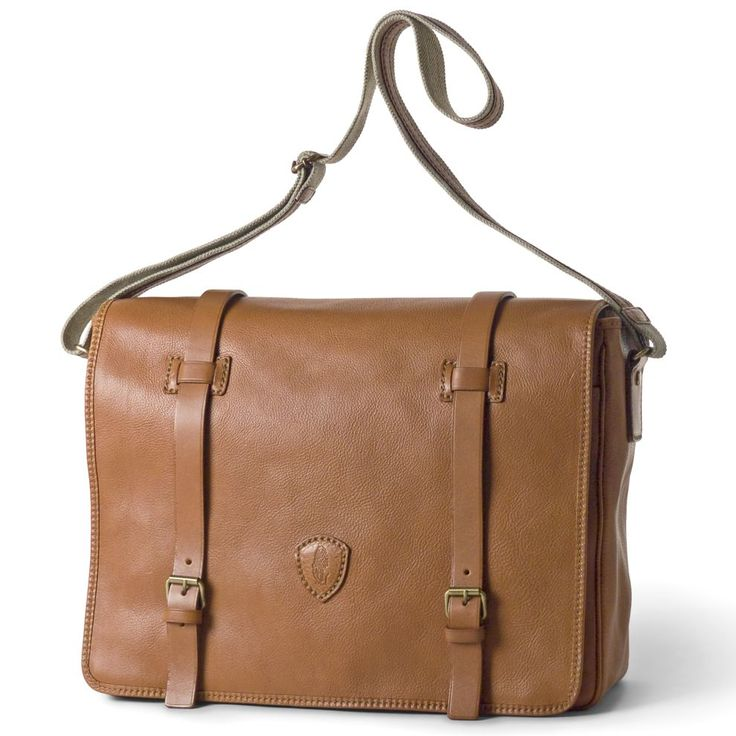 Large Leather Saddlebag from Tucci with Adjustable Strap | Pierotucci