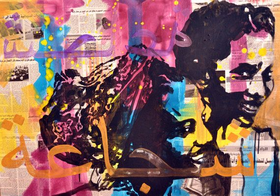 Brave II Original collage & tempera painting on by willemartina, $650.00