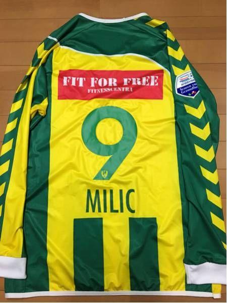 2009 ADOデン・ハーグ ミリッチ選手ホームユニフォーム HUMMEL リーグパッチ付き_画像2